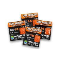 barbless carp strong hooks to nylon